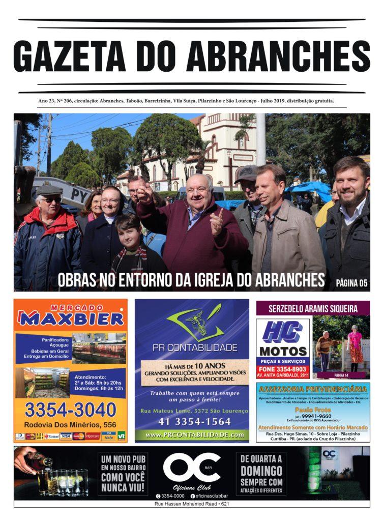Edição 206 da Gazeta do Abranches Julho de 2019