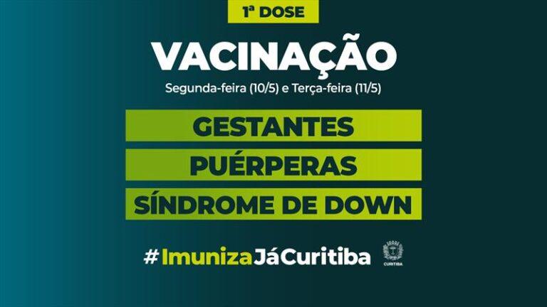 Começa na segunda a vacinação de gestantes, puérperas e pessoas com Síndrome de Down