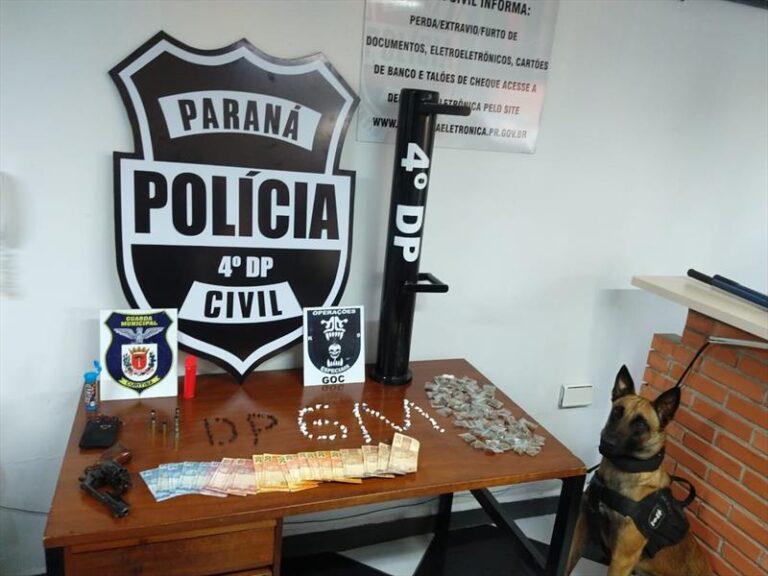Ação conjunta apreende arma e drogas no bairro Cachoeira